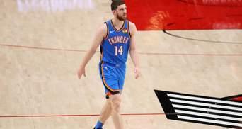 Оклахома зазнала 32 поразки у сезоні у НБА, Михайлюк набрав 10 очок: відео