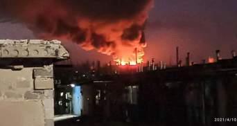 В окупованому Донецьку спалахнув м'ясокомбінат, чути вибухи: фото, відео