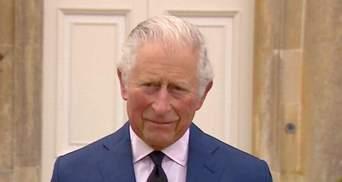 Принц Чарльз впервые обратился к общественности после смерти отца принца Филиппа