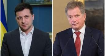 Зеленский обсудил с президентом Финляндии присутствие российских войск на границе с Украиной