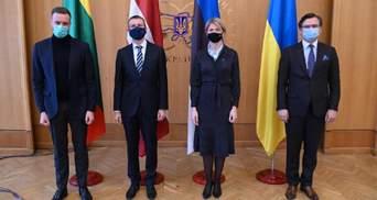 Главы МИД балтийских государств во время визита в Украину призвали Россию прекратить провокации