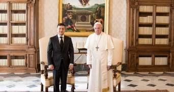 Зеленський подякував Папі Римському за молитву про мир на Донбасі