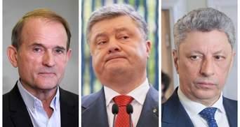 Антирейтинг украинских политиков: Порошенко поделил лидерство с Медведчуком и Бойко