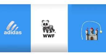 Український дизайнер відтворив популярні логотипи з емодзі й запустив флешмоб