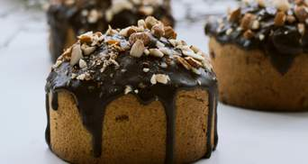 Бананові кекси з шоколадною глазур'ю: домашній рецепт
