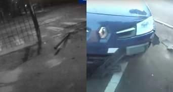 В'їхав у паркан відділку поліції: п'яний чоловік не впорався з кермуванням у Сумах – відео