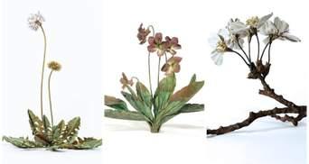 Одуванчики и фиалки: невероятные цветы из металла делает мастер из Японии