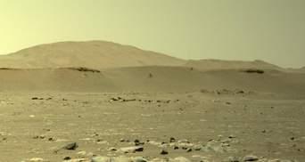 Аппарат NASA Ingenuity совершил третий полет над Марсом и прислал первые фото: видео полета