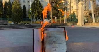 Викладач спалив свій диплом на знак протесту проти дипломованого Киви