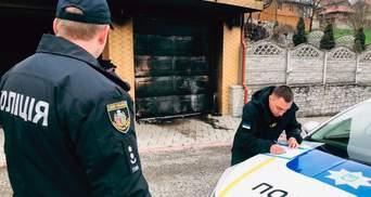 Коктейлем Молотова – у майно посадовця: у Чернівцях розшукують винуватця пожежі