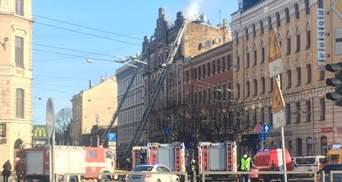 Смертельна пожежа у хостелі в Ризі: моторошні кадри з місця трагедії
