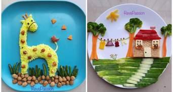 Как побудить детей питаться полезно: мама создает сказочные сцены на тарелках
