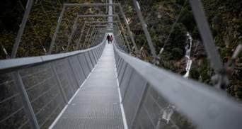 В Португалии открыли самый длинный в мире подвесной мост: захватывающие кадры