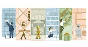 Новый дудл от Google: поисковик поздравил украинцев с Днем труда