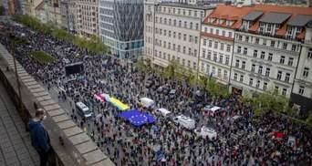 З кількаметровим прапором України: у Чехії відбулася масштабна антиросійська акція