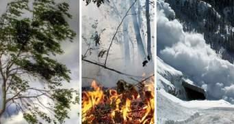Сильные ветры, пожарная опасность и угроза лавин в Карпатах: Украину накроет непогода