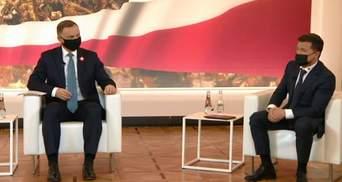 Кто-то всегда писал для Украины законы, – Зеленский на встрече с Дудой