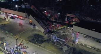 В Мексике упал мост вместе с поездом метро: есть много погибших и раненых, – видео
