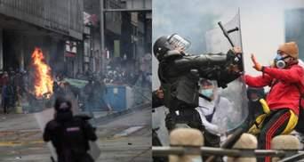 У Колумбії загинули щонайменше 17 протестувальників: ще 800 осіб постраждали