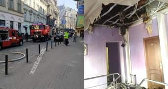 В центре Львова загорелся отель: фото и видео пожара на улице Коперника