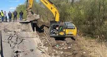 Чрезвычайная ситуация объектного уровня: назвали вероятную причину обрушения моста на Львовщине