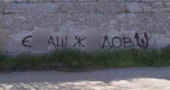 """""""Е*аш ж*дов"""": в Никополе на заборе появился призыв убивать евреев"""