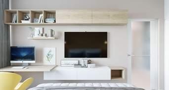 Телевізор у вітальні, спальні та кухні: як його ідеально розмістити