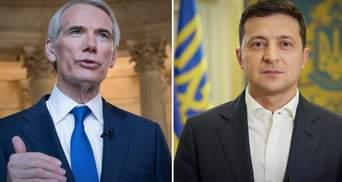 Ситуация все еще опасна, – Зеленский обсудил Донбасс с сенатором Портманом
