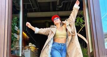 Джамала прогулялась по Киеву в коротком топе и джинсах: фото стильного выхода