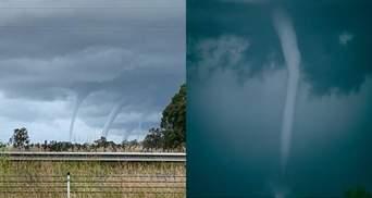 Відразу 5 смерчів виникли в Австралії: фантастичні фото та відео унікального явища