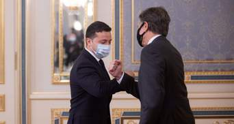 В Киеве началась встреча Блинкена и Зеленского