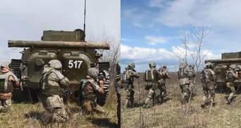 Залучили БМП і танки: на Рівненщині тривають навчання піхотинців – відео