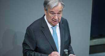 Генсек ООН прокомментировал идею о введении миротворцев на Донбасс
