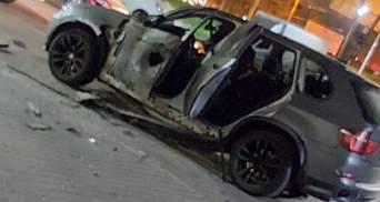 В Івано-Франківську з протитанкового гранатомета обстріляли автівку: фото, відео