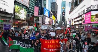 Столкновения между сторонниками Израиля и Палестины вспыхнули в Лондоне и Нью-Йорке