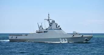 Украинские пограничники заметили в районе Черноморска ракетный корвет России