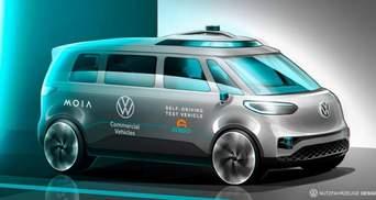 Volkswagen випустить безпілотний електробус у стилі хіпі