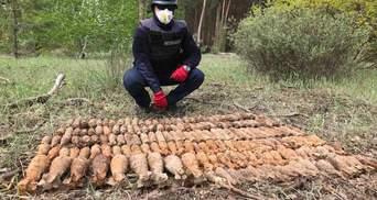 За три дні розкопок у лісі на Донеччині знайшли майже пів тисячі снарядів Другої світової
