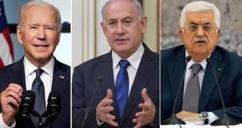 Загострення на Близькому Сході: Байден зателефонував лідерам Ізраїлю та Палестини