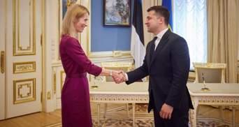 Говорили про війну і Кримську платформу: Зеленський зустрівся з прем'єркою Естонії