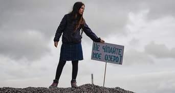 В Киеве защищают озеро Вырлица от застройки: дошло до столкновений с полицией
