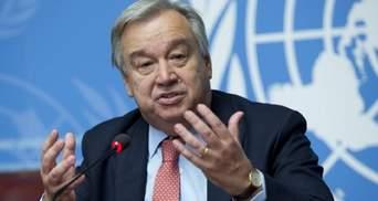 Генсек ООН привітав перемир'я між Ізраїлем і ХАМАС та чекає на діалог сторін
