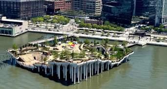 У Нью-Йорку відкрили острів на колонах: фото