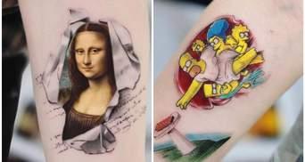 Известные картины и персонажи на теле: 15 детализированных тату от турецкого мастера