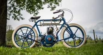 Ентузіасти створили божевільний мотоцикл, який більше нагадує велосипед: круті фото