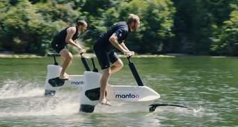 Крути педали: водный электровелосипед от компании Manta5