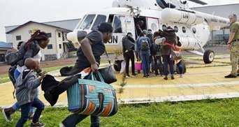 Украинские миротворцы спасают людей в Конго, где проснулся вулкан: фото, видео