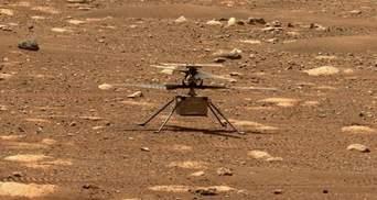 У марсіанського вертольота Ingenuity відбувся збій під час шостого польоту: свіже фото з Марса