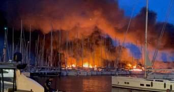У Хорватії на пристані згоріли розкішні яхти: фото, відео