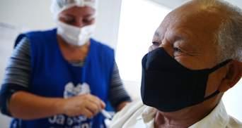 Вакцинація знижує смертність від коронавірусу на 95%: експеримент з Бразилії